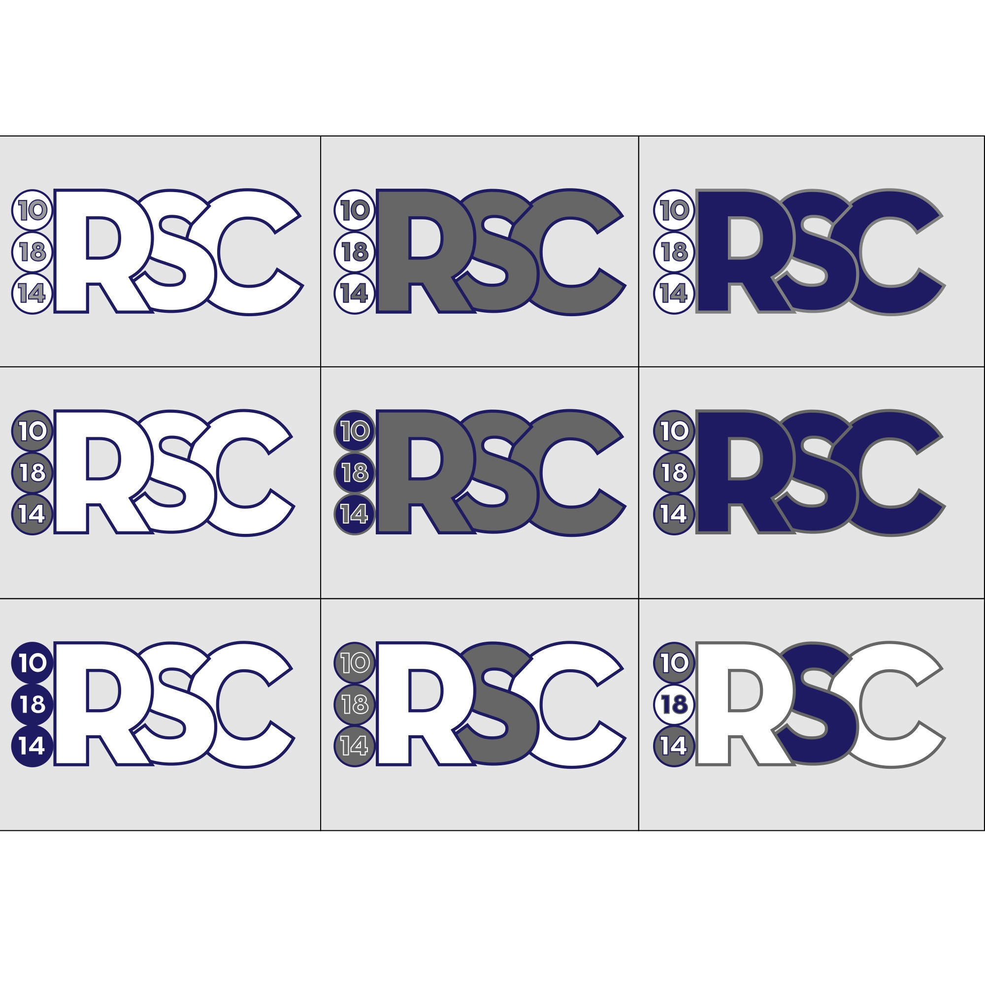 Boys logo color variations